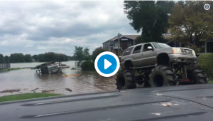 Rednecks to the Rescue. 'Redneck Army' rescues Nat'l. Guard from Harvey Flood Waters